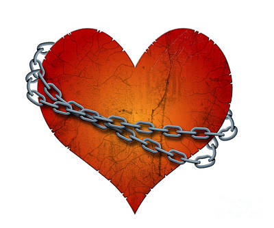 Chained Heart Poster by Michal Boubin