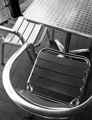 Chair And Table Poster by Joe Kozlowski