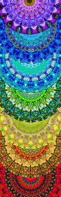 Chakra Mandala Healing Art By Sharon Cummings Poster by Sharon Cummings