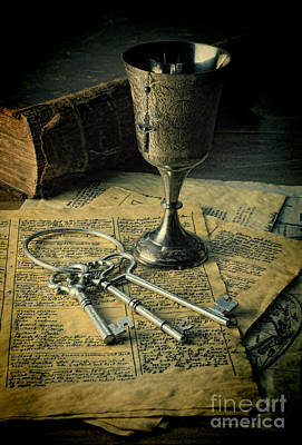 Chalice And Keys Poster by Jill Battaglia