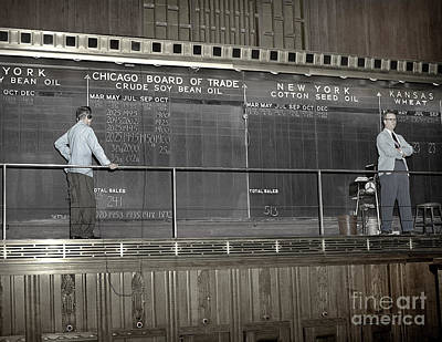 Chalk Board Of Trade 1951 Poster