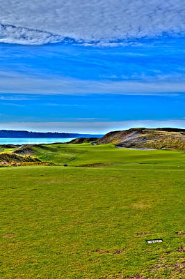 Chambers Bay - Hole #1 Poster by David Patterson