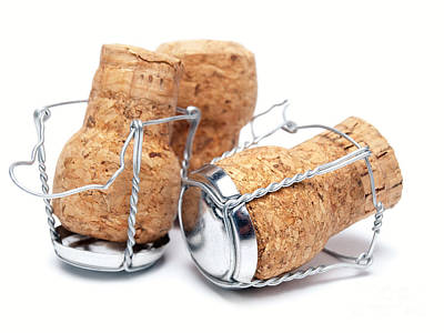 Champagne Corks Poster by Sinisa Botas