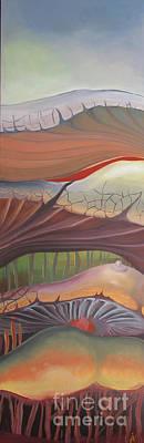 Champignons Landscape Poster