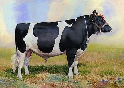 Champion Friesian Bull Poster