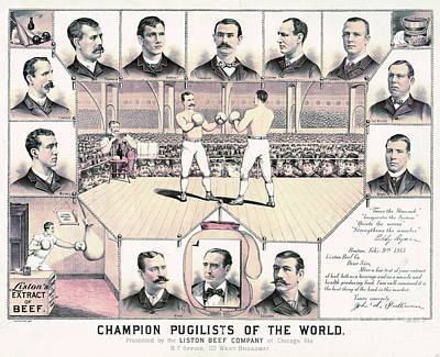 Champion Pugilists 1885 Poster by Padre Art