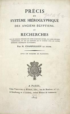 Champollion Book On Hieroglyphics Poster