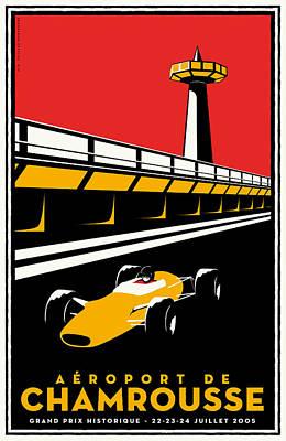 Chamrousse Grand Prix Poster by Georgia Fowler