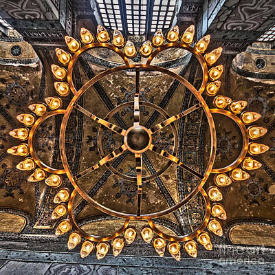 Chandelier At Hagia Sophia Poster