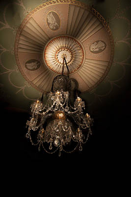 Chandelier Paxton House Poster by Niall McWilliam