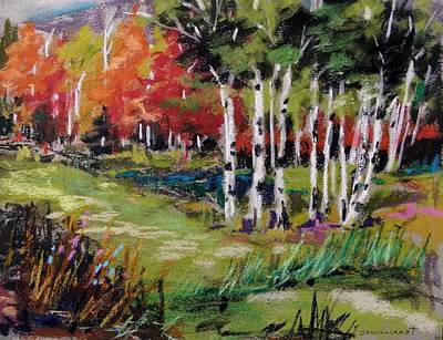 Poster featuring the painting Changing Birches by John Williams
