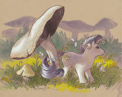 Chanterelle In Her Meadow Poster