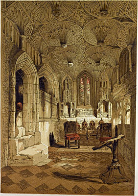 Chantry Chapel Adjoining The Beauchamp Chapel Warwick Uk Poster by English School