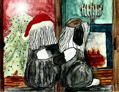 Chanukah Christmas Friends Poster