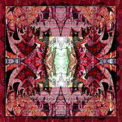 Chaotic Butterfly Mandala Poster by Georgiana Romanovna