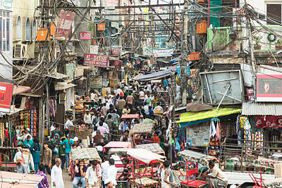 Chaotic Streets Of New Delhi In India Poster