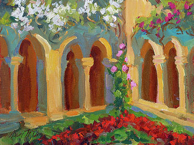 Chapel At St. Remy Poster by Diane McClary