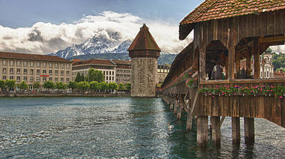 Chapel Bridge Lucerne Switzerland Poster