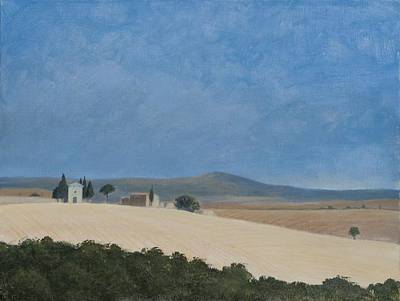 Chapel Near Pienza, 2012 Acrylic On Canvas Poster by Lincoln Seligman