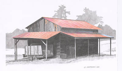 Chapin Barn Poster by Paul Shafranski