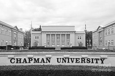 Chapman University Memorial Hall Poster by University Icons
