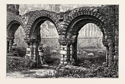 Chapter House, Much Wenlock Abbey, Abbey Poster by English School