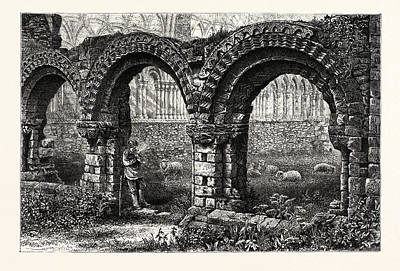 Chapter House, Much Wenlock Abbey, Uk, Britain Poster by English School