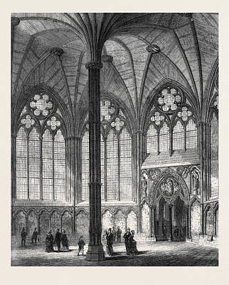 Chapter-house Of Westminster Abbey Lately Restored 1873 Poster by English School