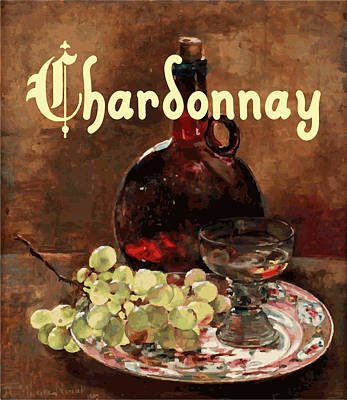 Chardonnay Vintage Advertisement Poster by
