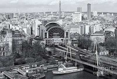 Charing Cross Station And Hungerford Bridge II Poster by Clarence Holmes