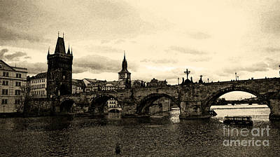Charles Bridge Poster by Petr Taborsky
