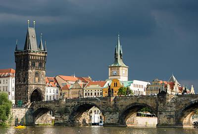 Charles Bridge Prague Poster by Matthias Hauser