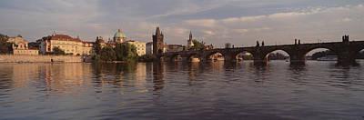 Charles Bridge Vltava River Prague Poster by Panoramic Images