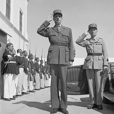 Charles De Gaulle In Carthage Tunisia 1943 Poster by Mountain Dreams