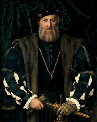 Charles De Solier  Lord Of Morette Poster by Hans Holbein the Younger