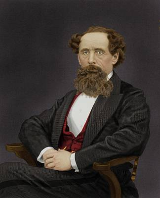 Charles Dickens Poster by Maria Platt-evans