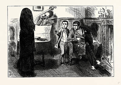 Charles Dickens Sketches By Boz The Black Veil Poster by Cruikshank, George (1792-1878), English