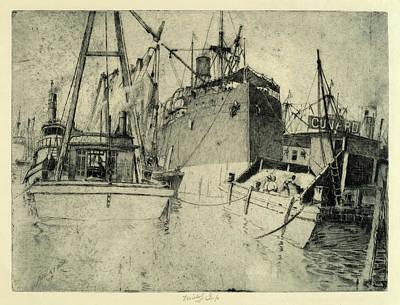 Charles Frederick William Mielatz, Chelsea Docks Poster