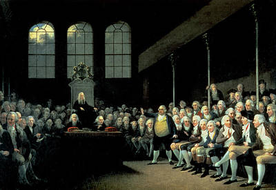 Charles James Fox 1749-1806 Addressing The House Of Commons During The Pitt Ministry Oil On Canvas Poster by Anton Hickel