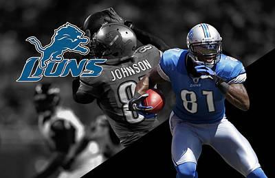 Calvin Johnson Lions Poster