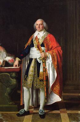 Charles Louis Francois Letourneur 1751-1817 1796 Oil On Canvas Poster by Jean Baptiste Francois Desoria