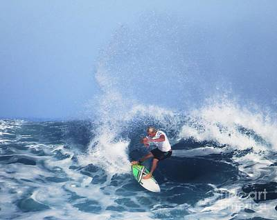 Charles Martin Pro Surfer In Hawaii Poster by Scott Cameron