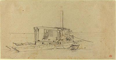 Charles Meryon French, 1821 - 1868, River Dredges Poster