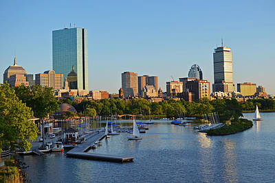 Charles River At Sunset Poster