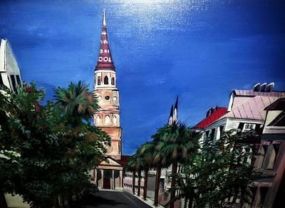 Charleston Church Street  Poster by Joetta Beauford