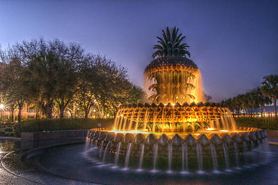 Charleston Pineapple Fountain Poster