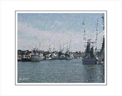 Charleston Shrimp Boats Poster