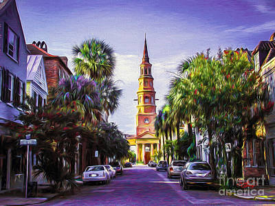 Charleston South Carolina St Philips Church Poster