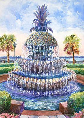 Charleston's Pineapple Fountain Poster
