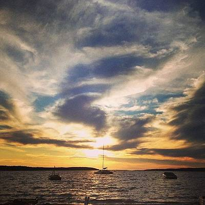Charlevoix Sunset Poster by Christy Beckwith